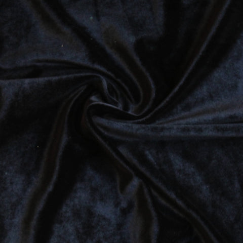 Licorice Black Fashion Stretch Velvet