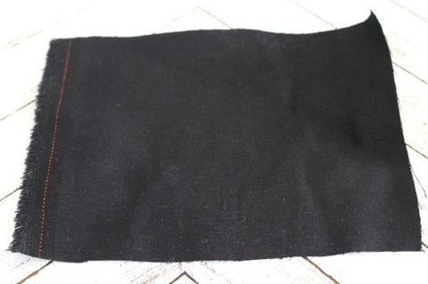 Designer Cotton Spandex Black Stretch Twill
