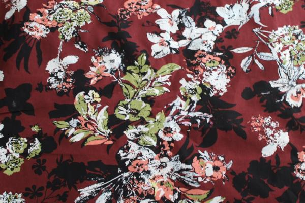Ground Control Floral Cotton Linen Woven