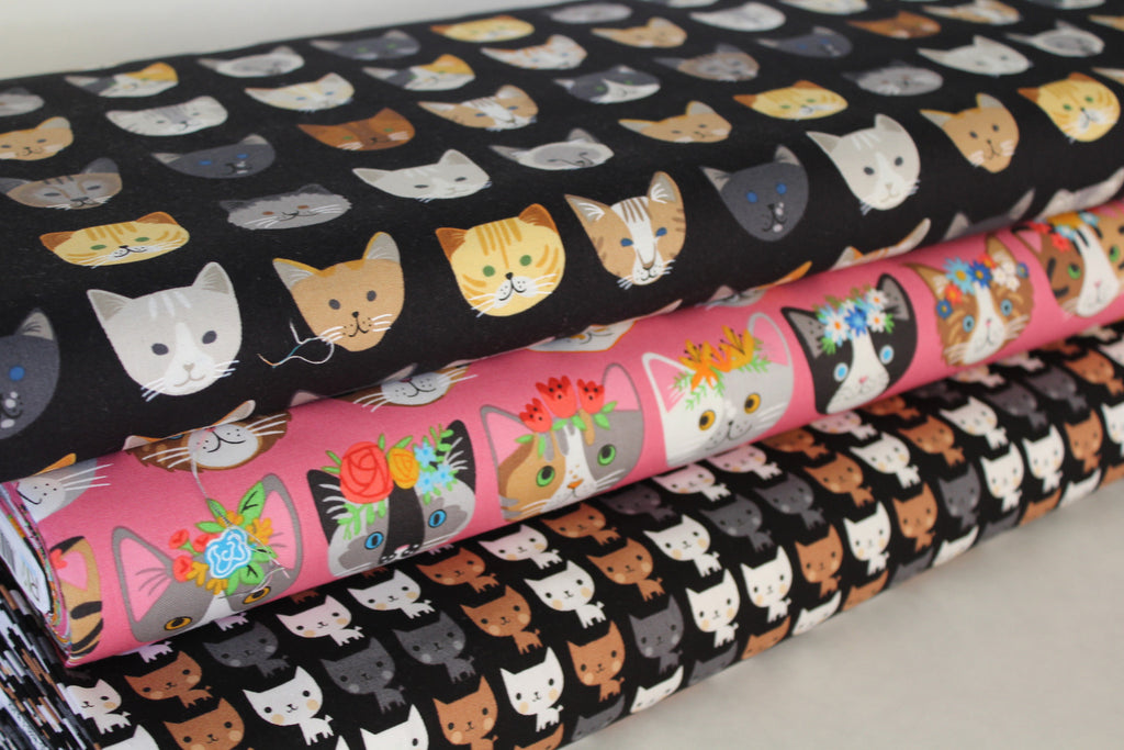 Kitties Cotton Print Woven by Suzy Ultman