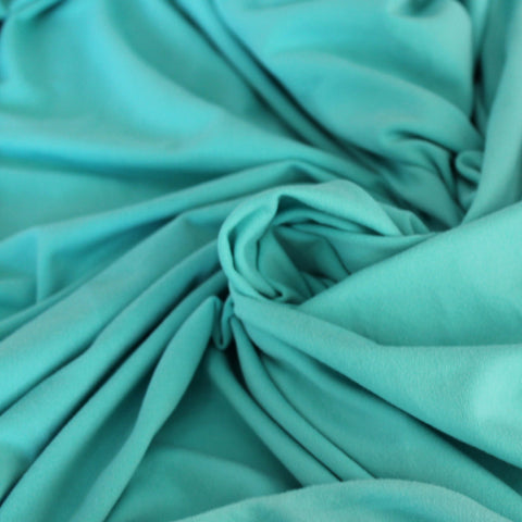 Double Brushed Poly Spandex Aqua Mint