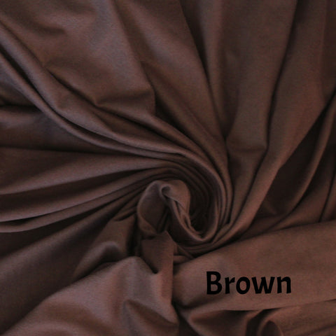 Double Brushed Chocolate Brown Poly Spandex Solid