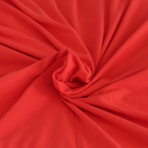Double Brushed Poly Spandex Red Solid