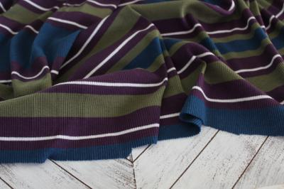 End of BOlt: 3 yards of Designer Rib Knit Purple, Teal, and Green Knit