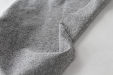 End of Bolt: 2.5 yards of  Heather Grey Cotton Spandex 14 oz Solid Knit