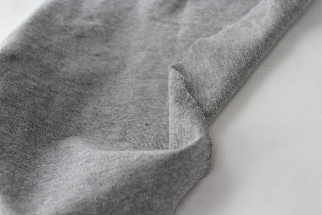 Heather Grey Cotton Spandex 14 oz Solid Knit