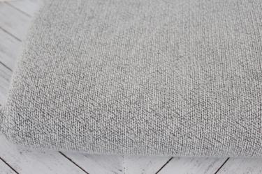 End of Bolt: 3 yards of Famous Maker Knitted Gray and Ivory Marled Sweater Knit