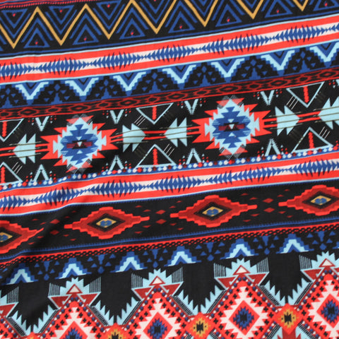Double Brushed Poly Spandex Southwestern Knit