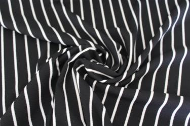 Black and Ivory Stripe Liverpool Knit