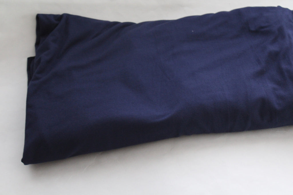 Double Brushed Poly Spandex Navy Knit Solid- By the yard