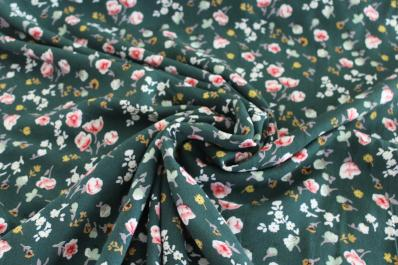 End of Bolt: 3.5 yard Emilia Green Rayon Challis Woven