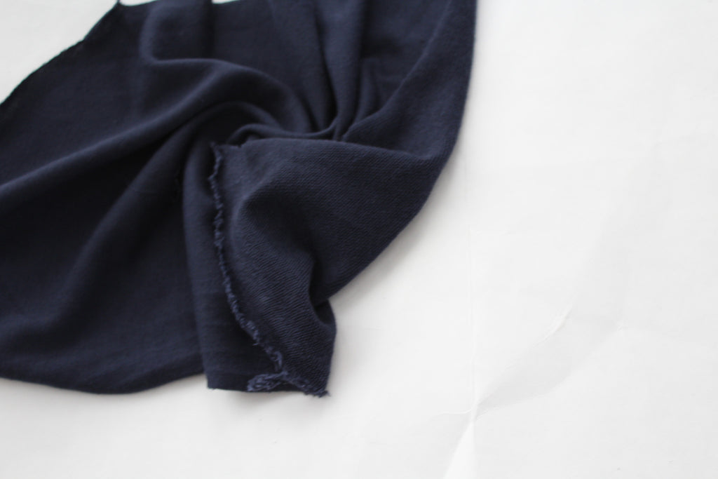 End of BOlt: 1 yard of Navy French Terry Solid