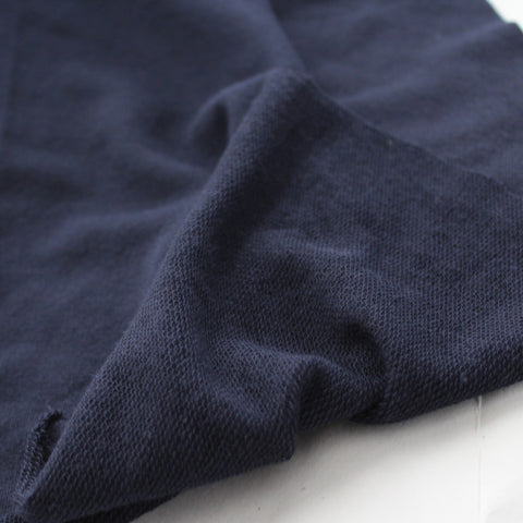 End of BOlt: 1-3/8th yards of Navy French Terry Solid
