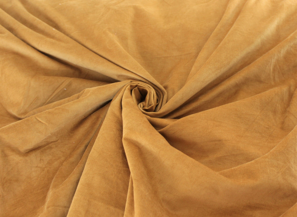 Baby Wale Camel Hue Stretch Corduroy Woven