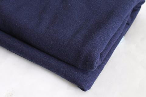 Designer Indigo Denim French Terry Knit