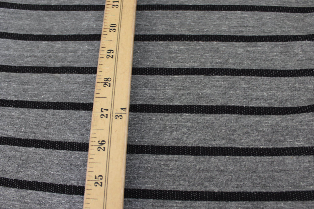 End of BOlt: 3 yards of  Famous Maker Tri-Blend Stripe French Terry Knit