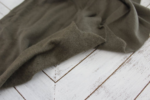 End of BOlt: 3-1/8th yards of Famous Maker Cozy Olive Green Sweatshirt Fleece