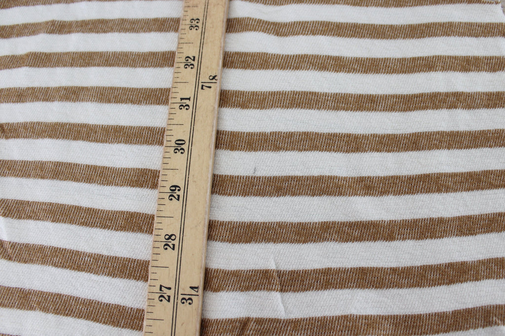 End of Bolt: 5 yards of Designer Stripe Baby Terry Knit