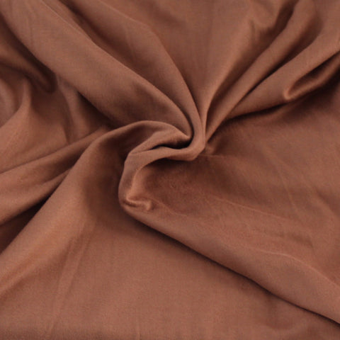 Double Brushed Poly Spandex Mocha Brown Solid Knit