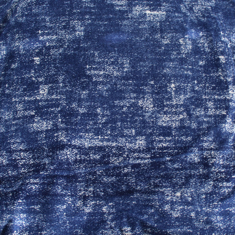 End of Bolt: 4 Yards of Double Brushed Poly Spandex Blue Grunge Print