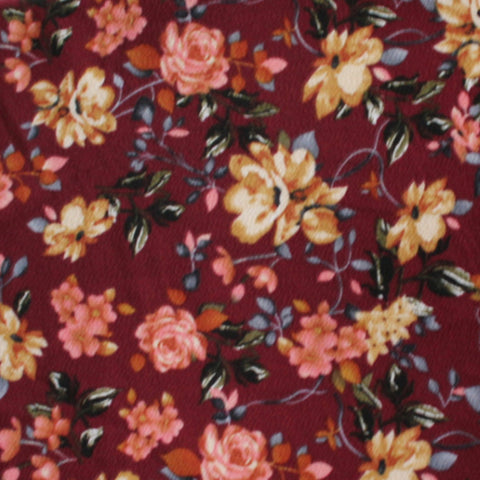 End of Bolt: 2.5 Yards of Annabelle Romance Mulberry Liverpool Print