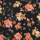 End Of Bolt: 2.5 yards of Annabelle Romance Black and Rose Liverpool Print