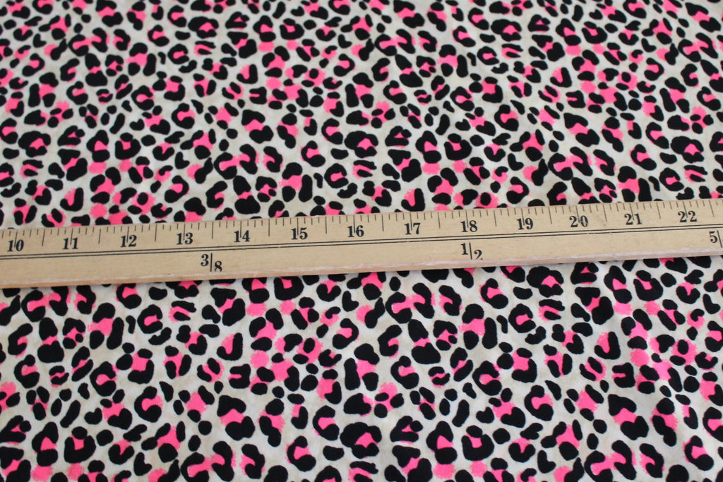 Double Brushed Animal Neon Pink Print Knit