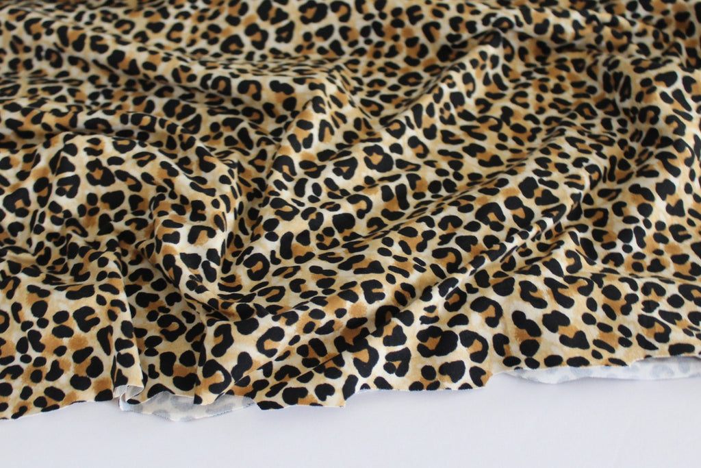 Double Brushed Animal Print Knit- Sold by the Yard