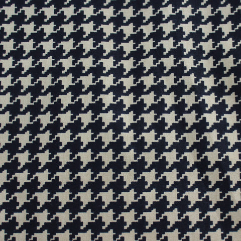 End of Bolt: 2.5 Yards of Houndstooth Twill Suiting Woven