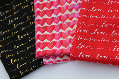 End  of Bolt: 1.5 Yard of  Valentine Cotton Prints-As Pictured