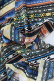 End Of Bolt: 2 yards of Southwestern Crepe De Chine Silk Print