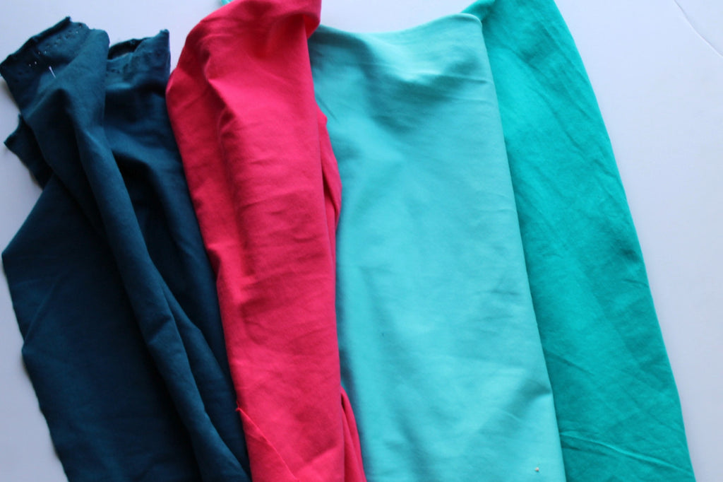 Teal Cotton Spandex Solid 14 oz
