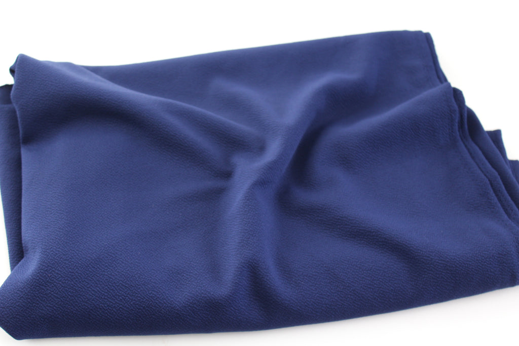 Double Brushed Poly Navy Knit Solid