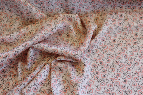 End of Bolt: 3 Yards of Ditzy Floral Satin Charmeuse