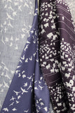 Organic Cotton Aubergine Sheep Crepe Print Woven