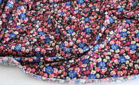 End of BOlt: 2.5 yards of Rayon Spandex Brielle Floral Jersey Knit