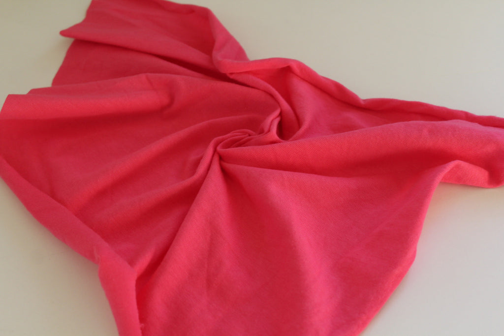 Famous Maker Cotton Spandex Fuchsia Jersey Knit Solid