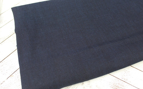 End of Bolt: 2.5 Yards of Designer Dyed Two Tone Indigo Chambray Woven