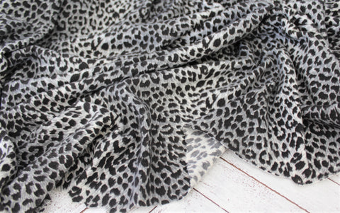 End of Bolt: 3.5 Yards of Animal Print Brushed Hacci Sweater Knit