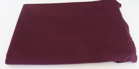 End of Bolt: 2.5 yards of Ponte Burgundy Knit Solid