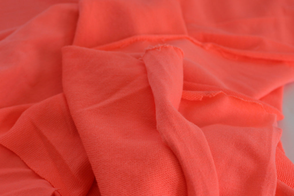 Neon Coral French Terry Knit
