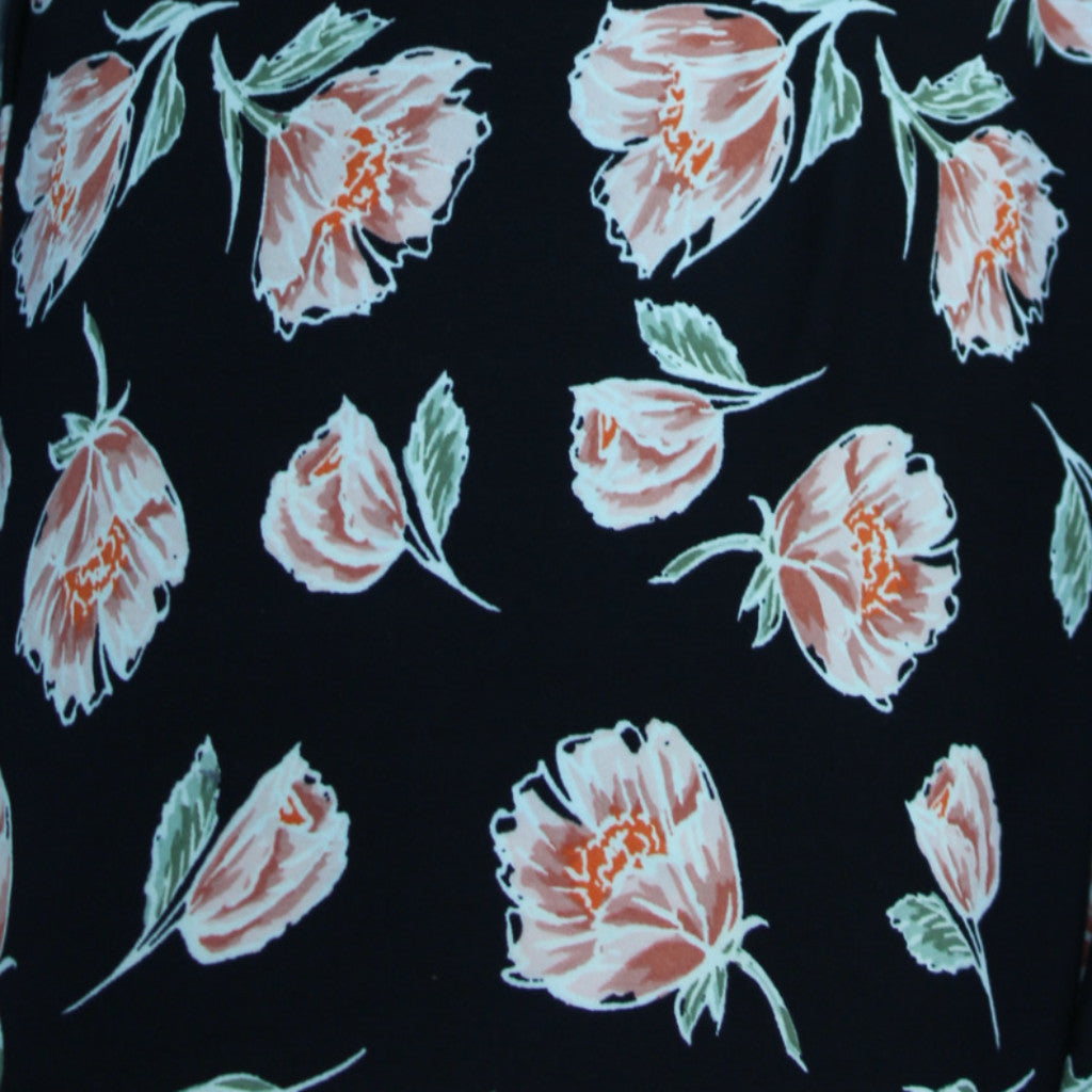 End Of Bolt: 4 yards of Double Brushed Sweet Lucy Floral Blush Knit