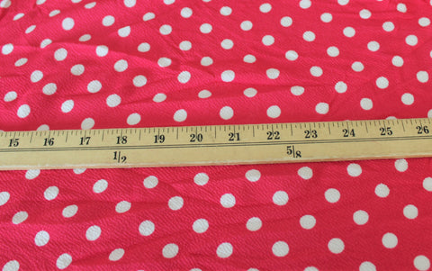 End of Bolt: 3 Yards of Pink Small Dot Liverpool Knit