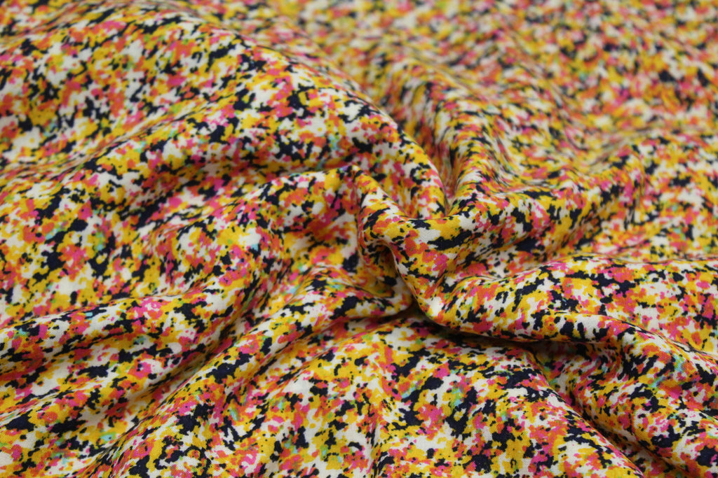 Designer Ditzy Floral Rayon Challis