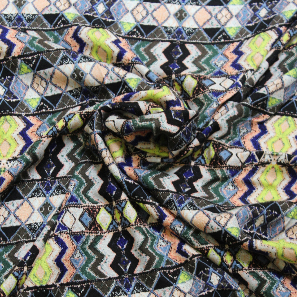 Designer Geo Abstract Rayon Crepe Woven