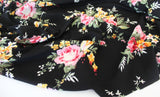 End of BOlt: 1.5 yards of Black Bouquet Liverpool Knit