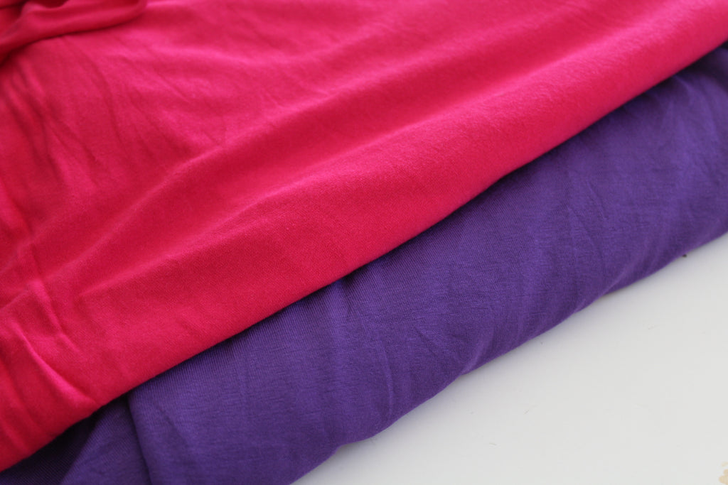 End of Bolt: 4 yards of Fuchsia Luxe Rayon Spandex Knit