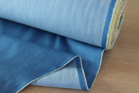 End of Bolt: 3 Yards of Sky Blue Stretch Fashion Denim