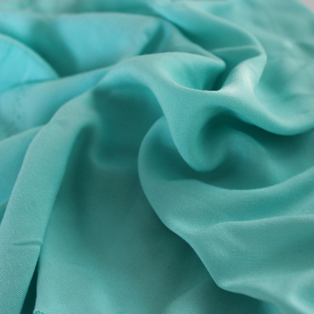 Mint Rayon Challis Solid