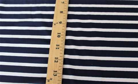 Navy & White Swim Performance wear Stripe Knit